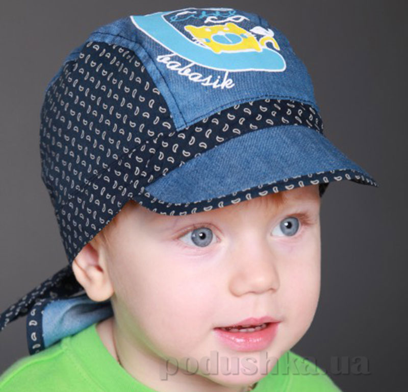 Банданка летняя для ребенка Джо Бабасик джинс-синий