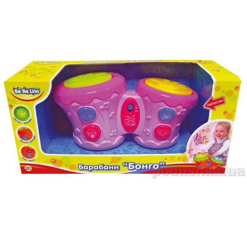 Барабаны Бонго BeBeLino 57032-1 розовые   BeBeLino