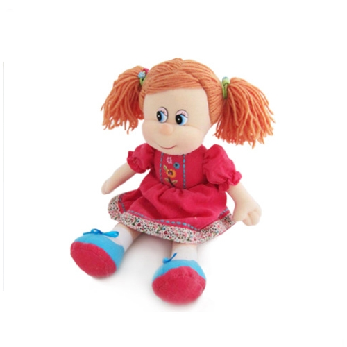 Мягкая игрушка Кукла варенька в вельветовом платье