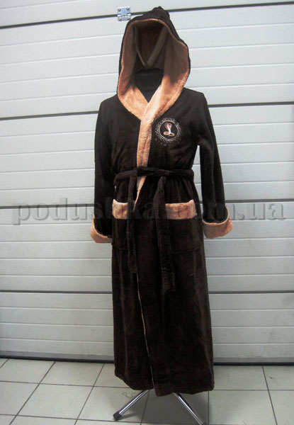 Халат мужской длинный с капюшоном Nusa NS-2655