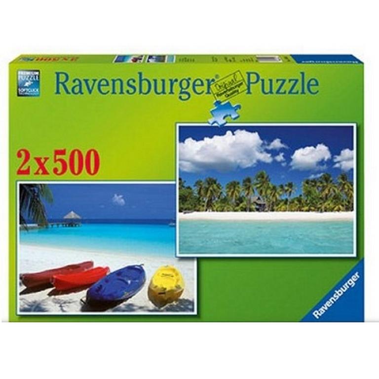 Пазл Солнечный пляж Ravensburger 80828-Rb 2х500 эл