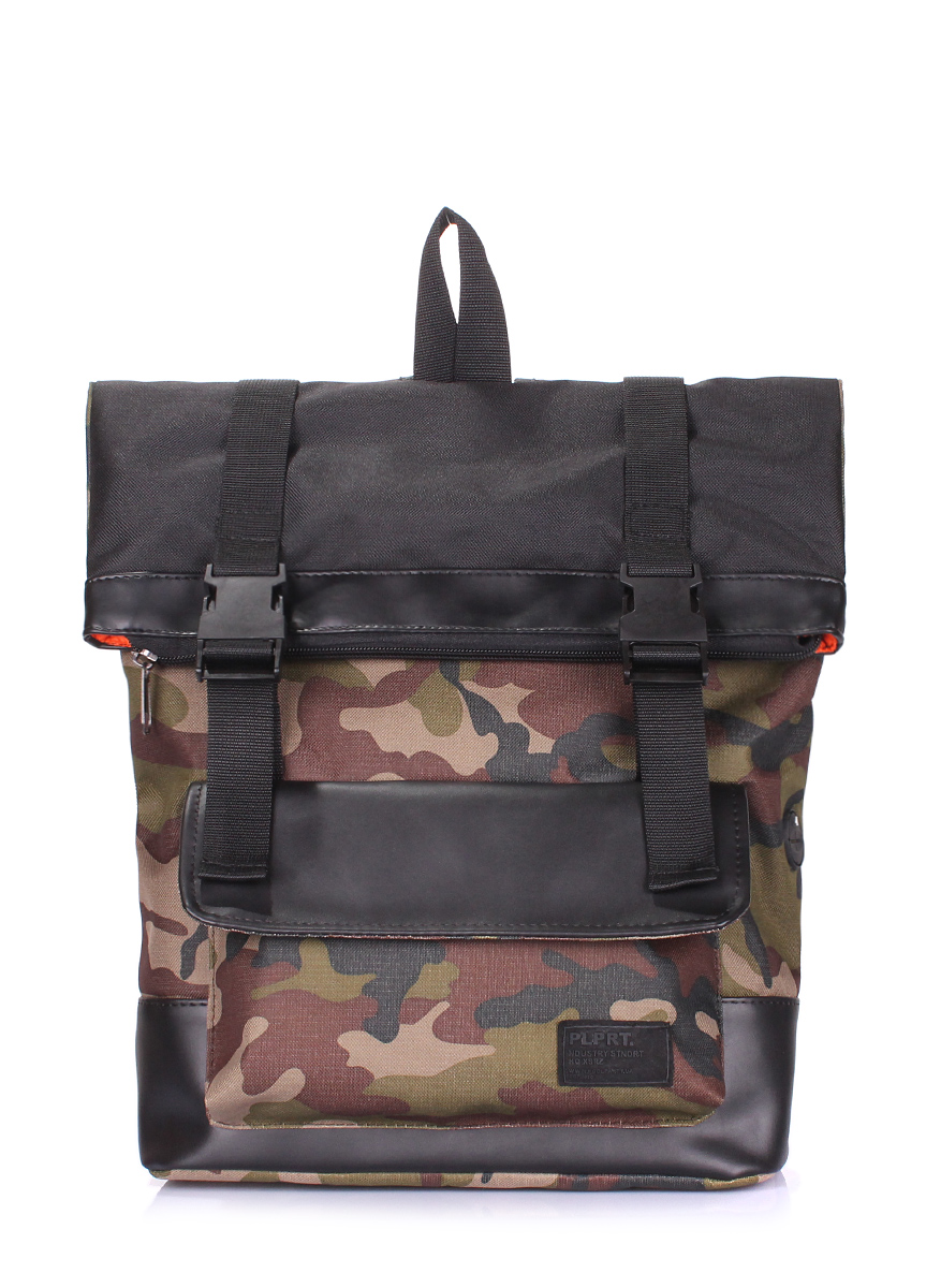 Камуфляжный рюкзак Poolparty Commando camo black