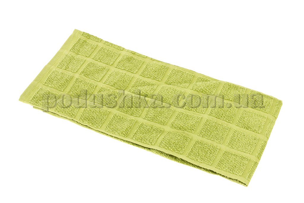 Полотенце кухонное Maisonette Kitchen Style-130 Квадраты светло-зеленое