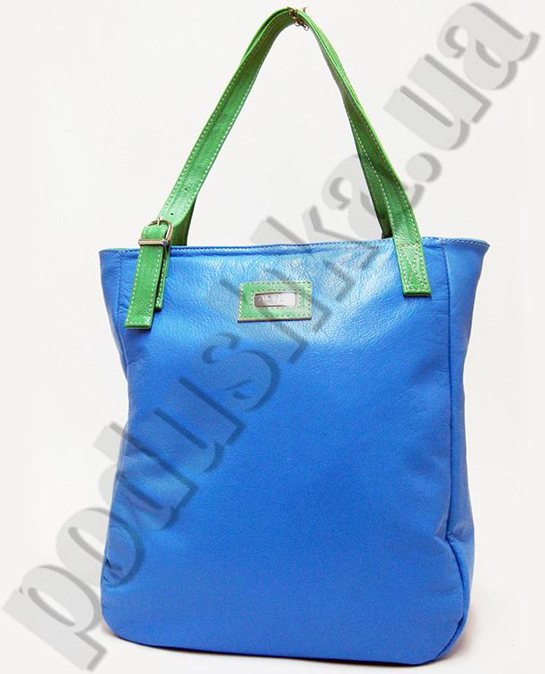 Сумка из натуральной кожи Artis Bags 755 голубая