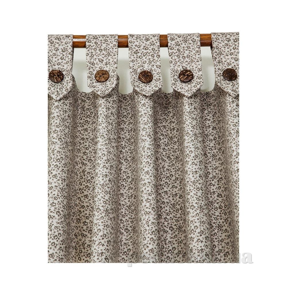 Штора с декоративными пуговицами Прованс Классик Цветы 50040 150х250 см  Прованс