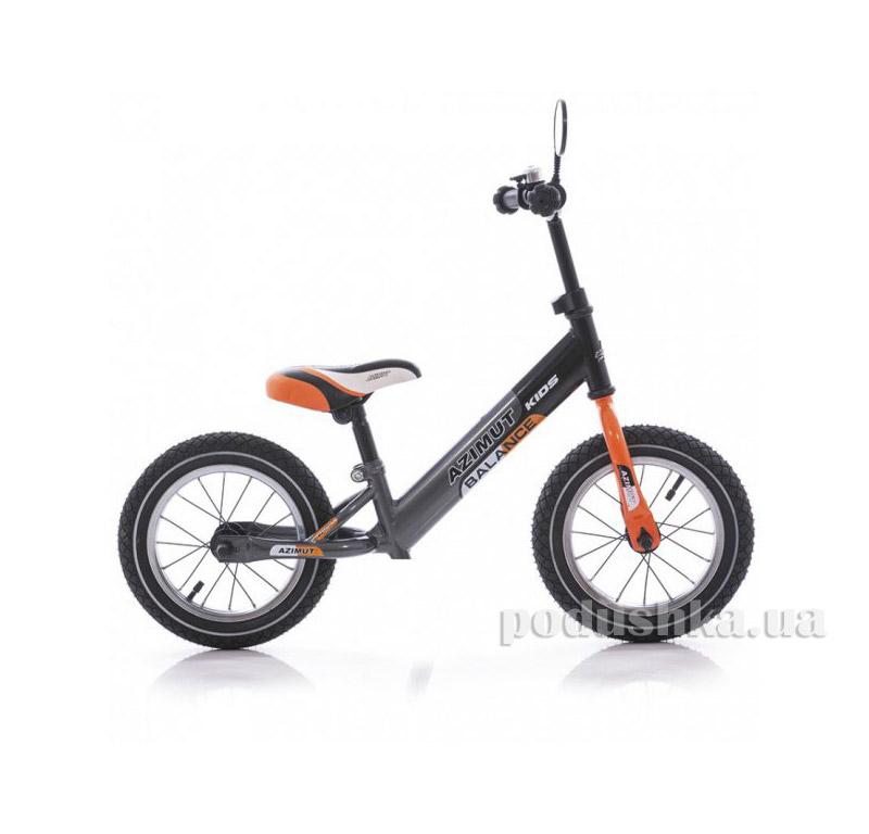 Беговел Azimut Balance bike AIR 14 Графит-оранжевый