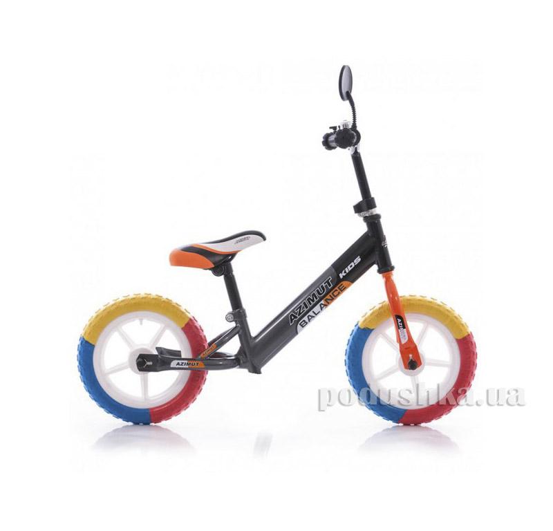 Беговел Azimut Balance Bike EVA 12 Графит-оранжевый
