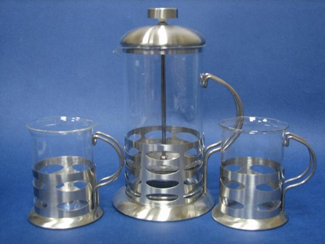 Набор заварник со стаканами De Luxe