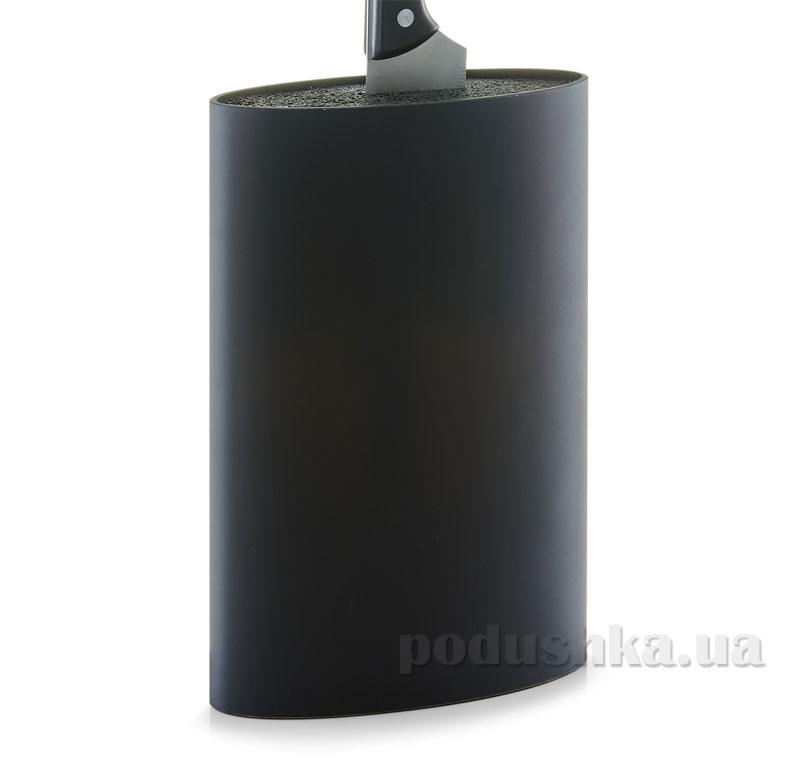 Блок для ножей Zeller Универсальный G24931 овальный черный   Zeller