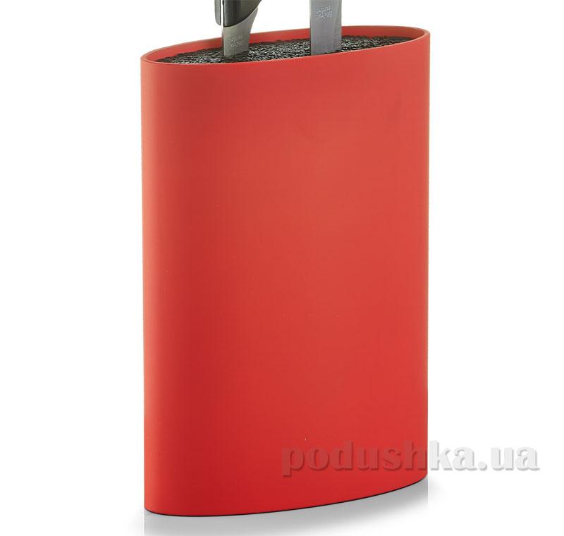 Блок для ножей Zeller Универсальный G24932 овальный красный   Zeller