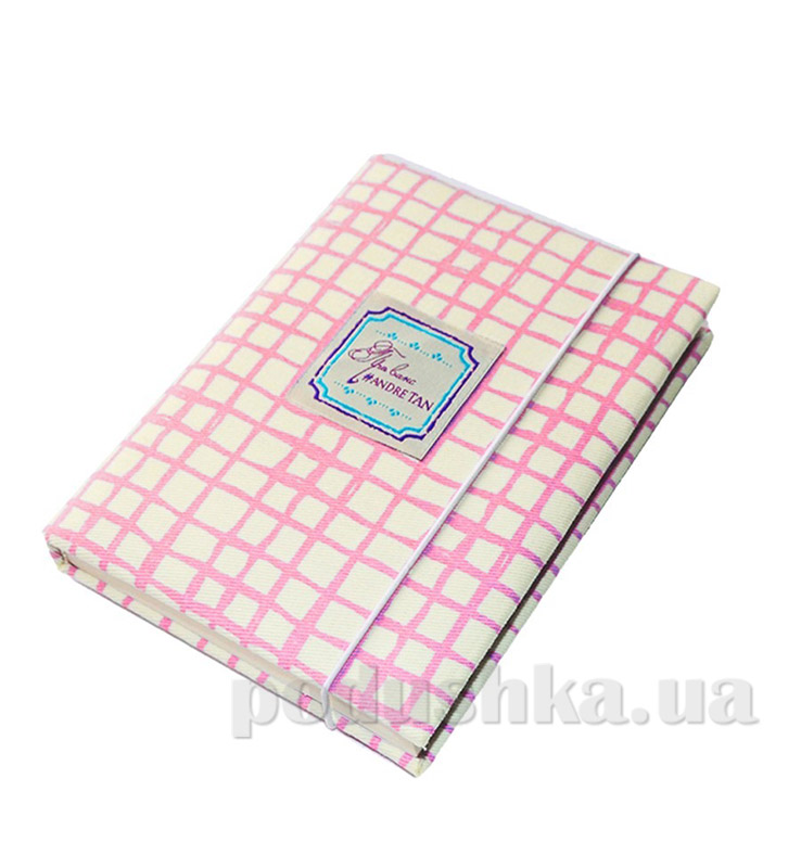 Блокнот Андре Тан розовая клетка
