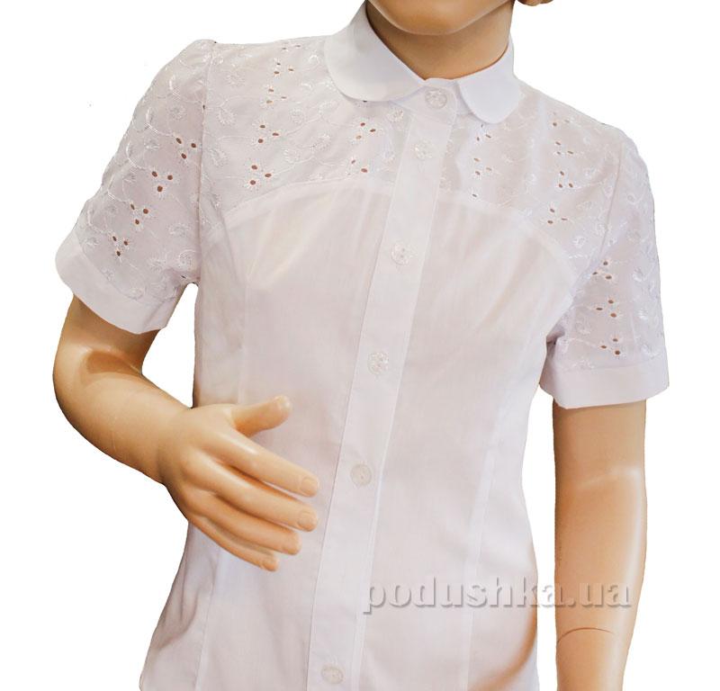 Блуза для девочки Промiнь ВД-1530А белая