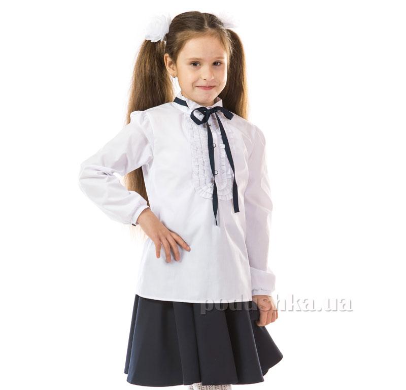 Блуза для девочки Kids Couture 17-124 белая с тесьмой
