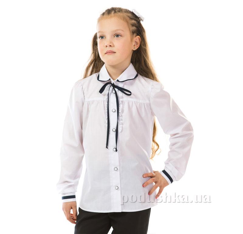Блуза для девочки Kids Couture 17-125 белая с тесьмой