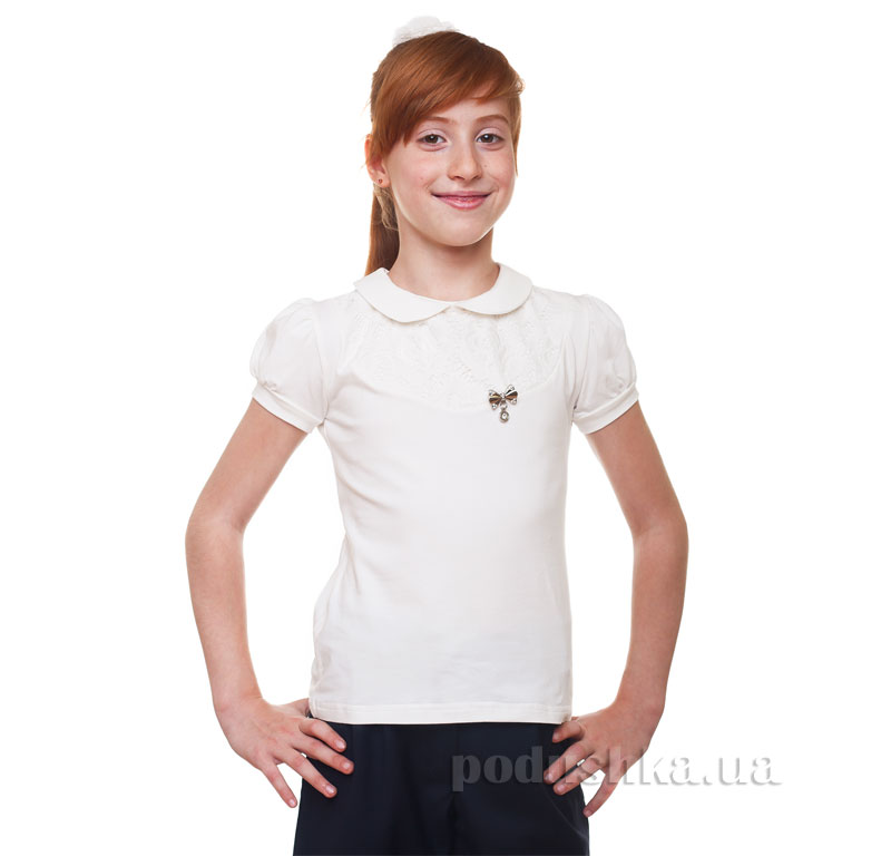 Блуза для девочки Kids Couture 17-161 молочная