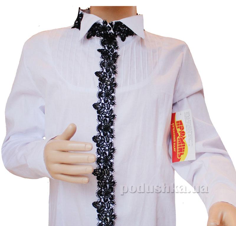 Блуза для девочки Промiнь ВД-0930 т белая с черным