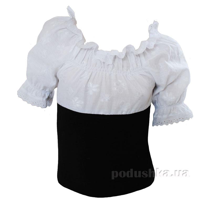 Блуза для девочки Промiнь ВД-0961 белая с черным