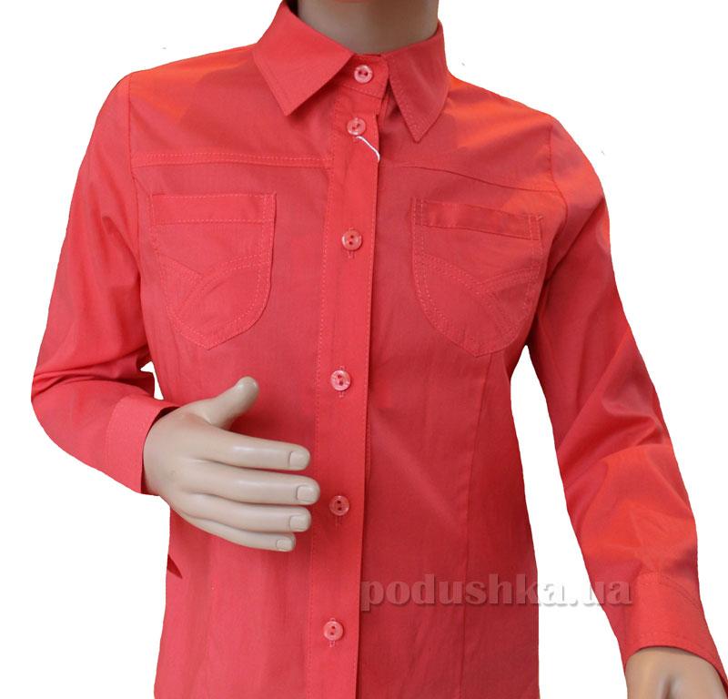 Блуза для девочки Промiнь ВД-1372 морковная