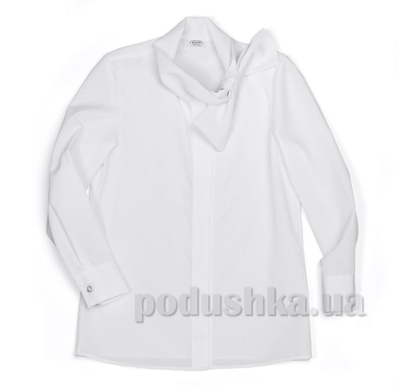 Блуза с бантом на вороте Юнность 266 белая