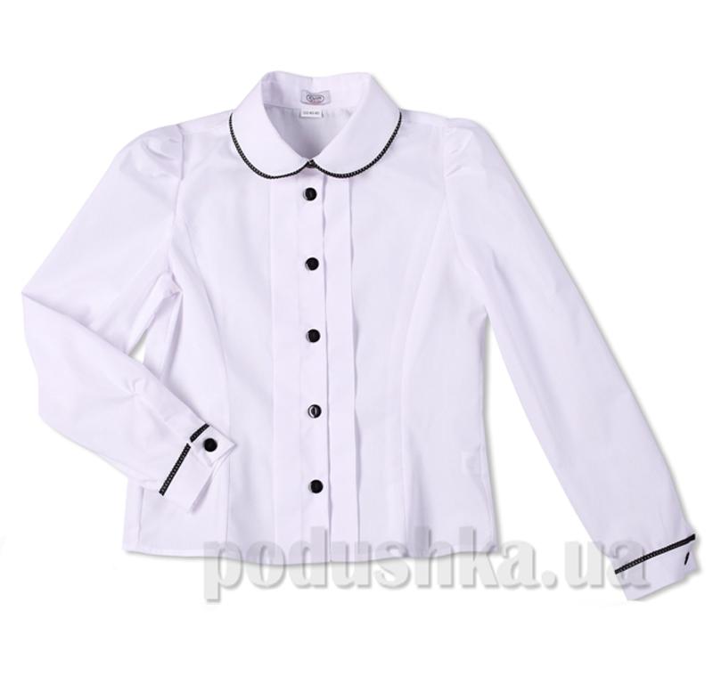 Блуза с контрастной отделкой Юность 286-1 белая