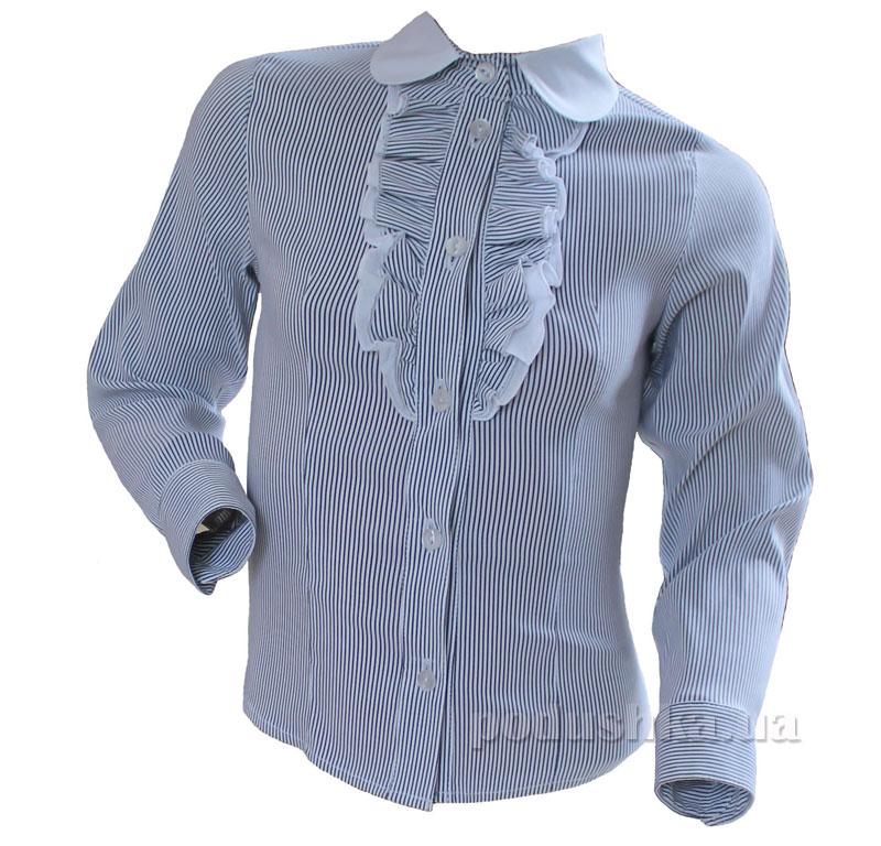 Блуза с оборками Промiнь ВД-1635 белая в полоску