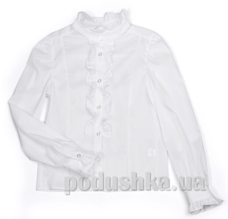 Блуза с оборками Юность 289 белая
