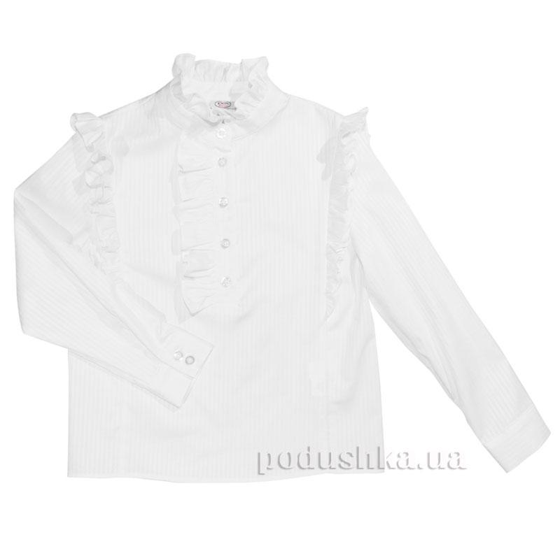Блуза с оборками Юность 332 белая