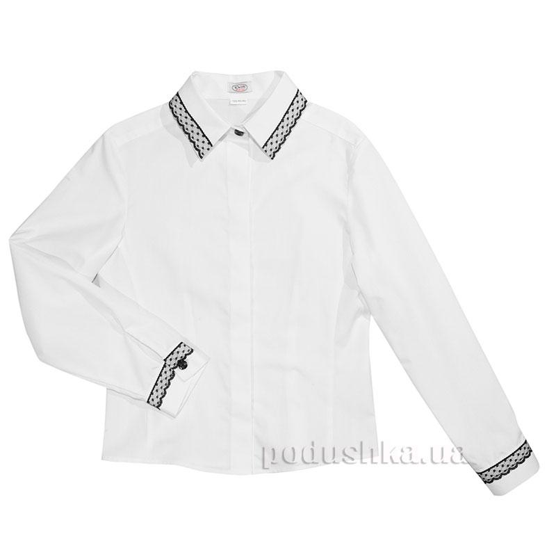 Блуза с отделкой Юность 331 белая