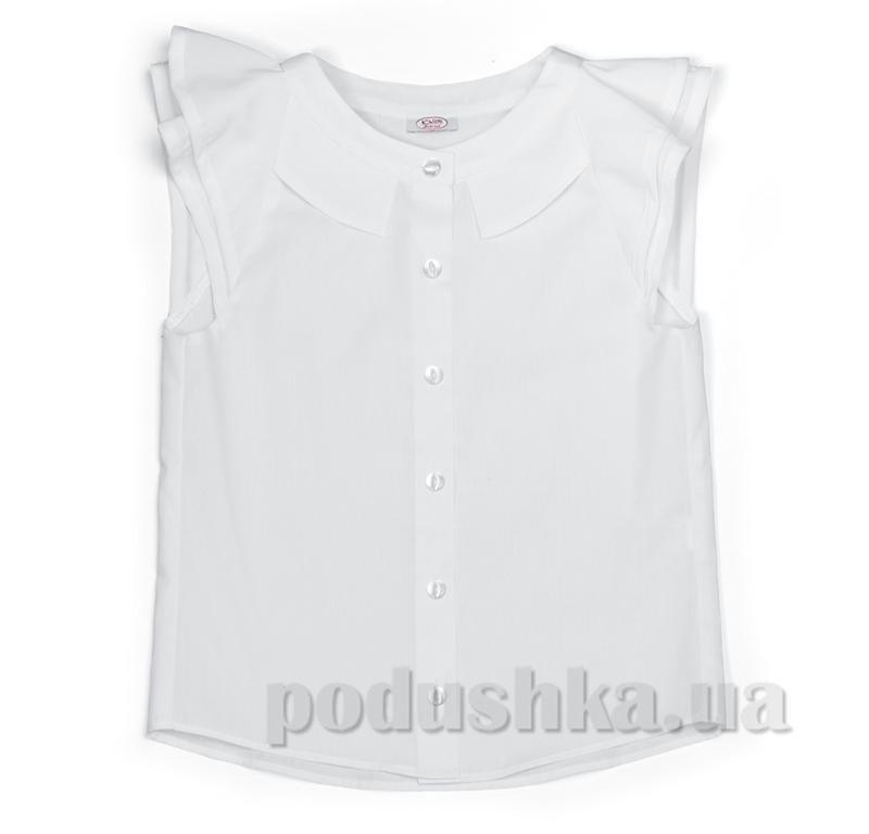 Блуза с рукавом крылышко белая Юность 285