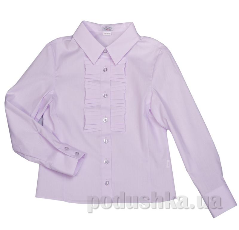 Блуза с рюшами Юность 287 сиреневая