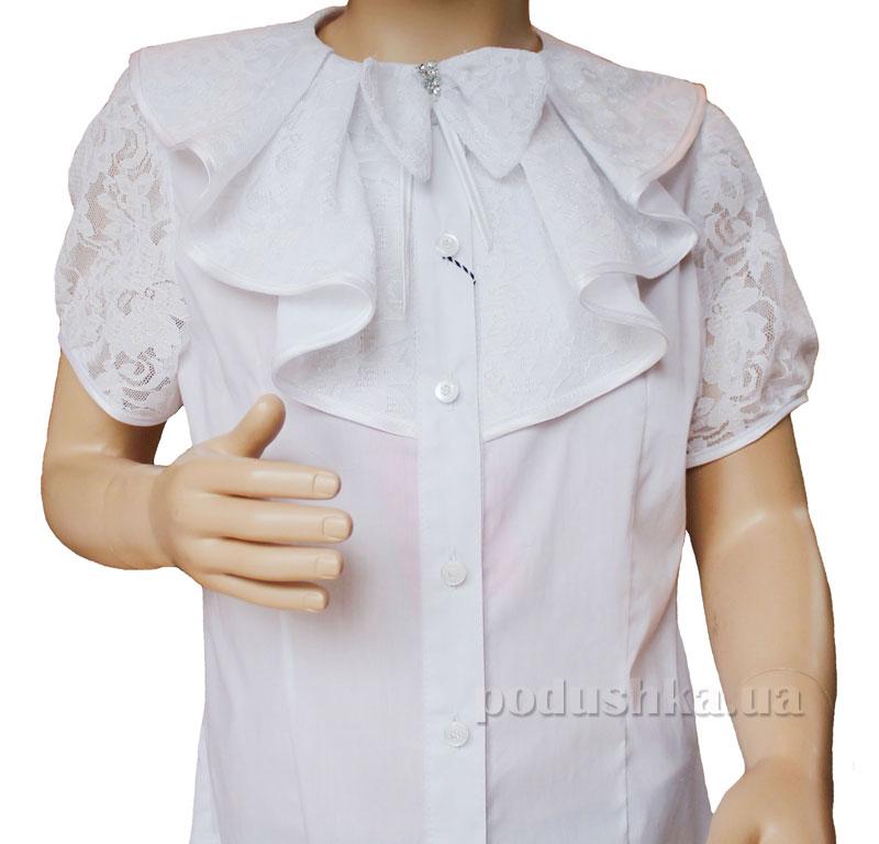 Блуза с воланом Промiнь ВД-1368 белая