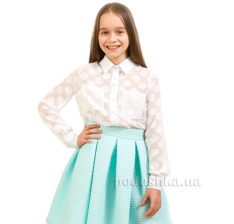 Блуза шифоновая Горох Kids Couture белая