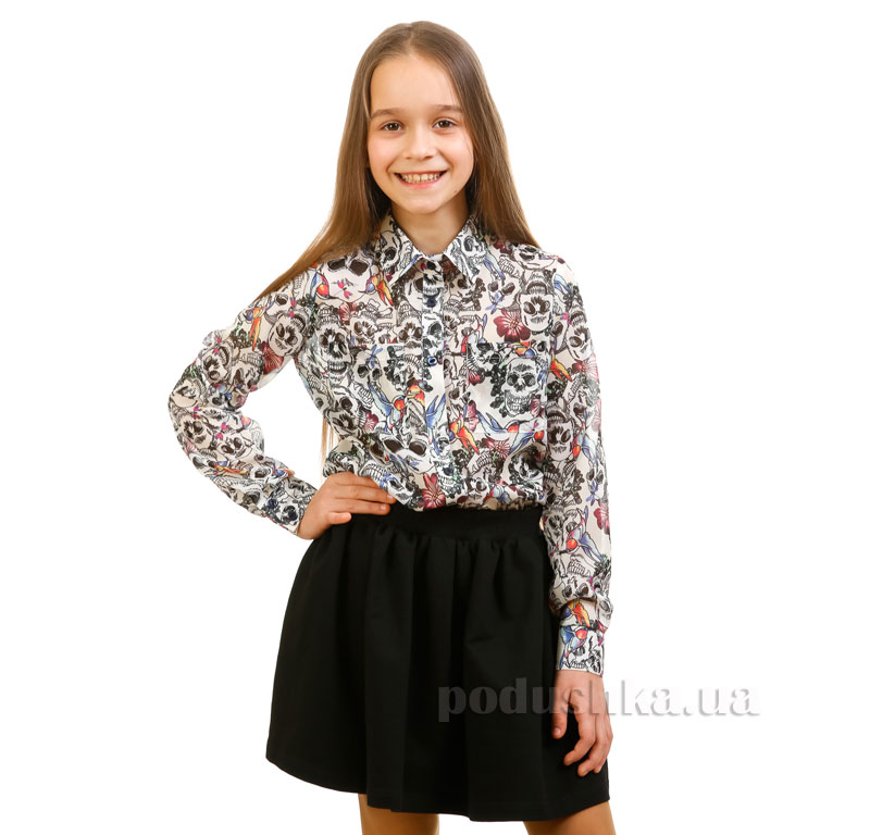 Блуза шифоновая Колибри Kids Couture белая