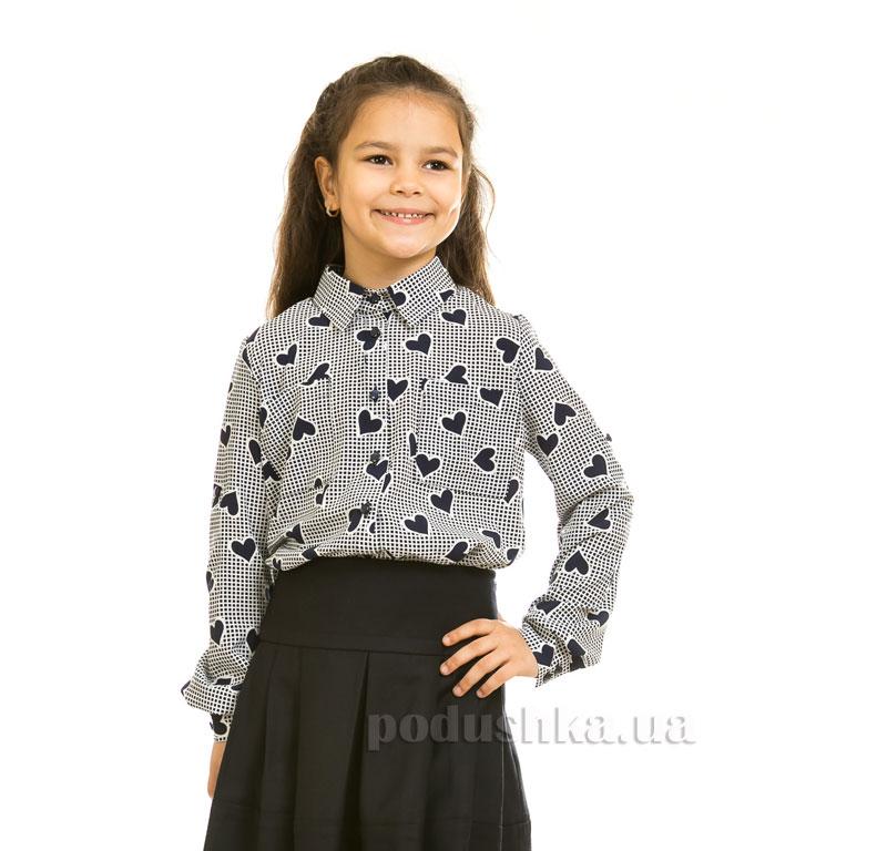 Блуза шифоновая Сердца Kids Couture синяя