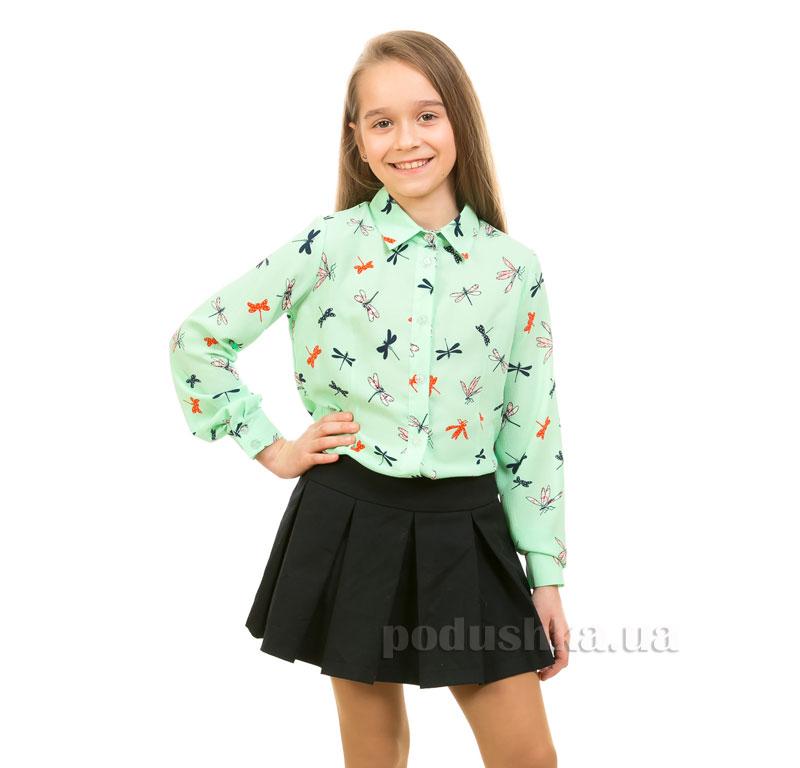 Блуза шифоновая Стрекоза Kids Couture зеленая