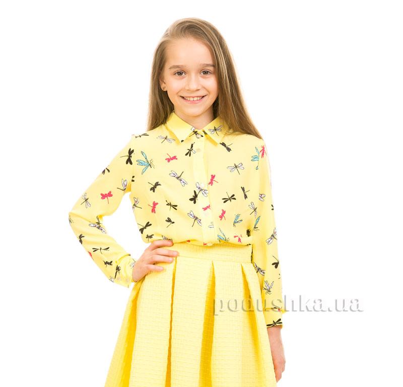 Блуза шифоновая Стрекоза Kids Couture желтая