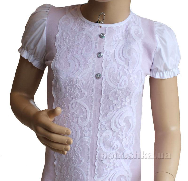 Блуза Трикотаж Промiнь ВД-1360т белая с лиловым