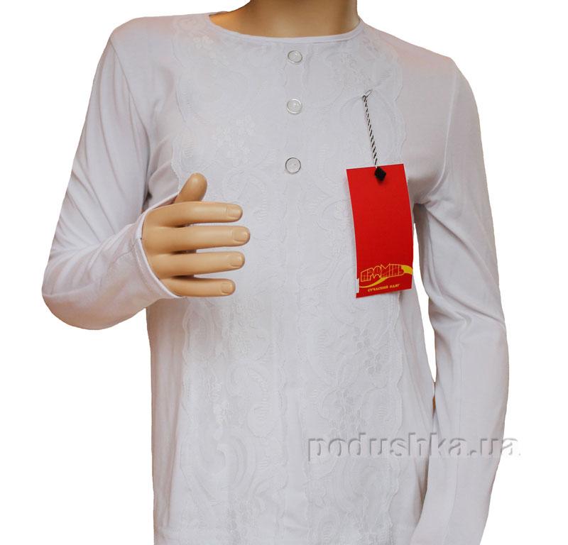 Блуза трикотажная Промiнь ВД-1528т белая