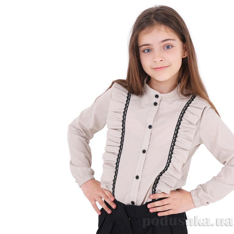 b307a1eaa07 Блузка для девочки Sophie Timbo B033181 бежевая купить в Киеве ...