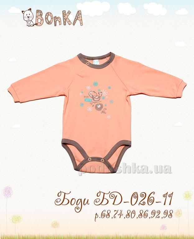 Боди Bonka БД-026-11 персик