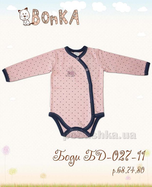 Боди Bonka БД-027-11 розовое в горошек