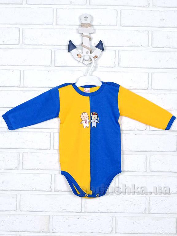 Боди Татошка 148581 желто-синее