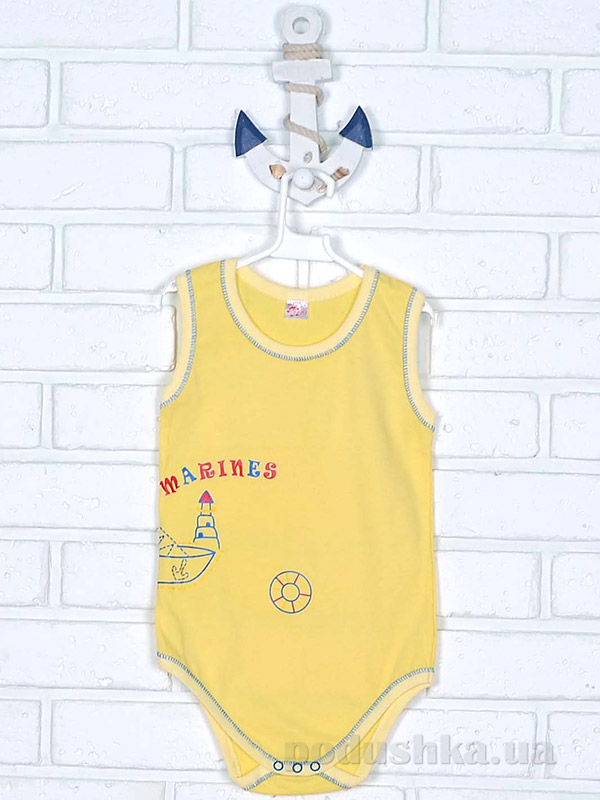 Боди для малыша Татошка 14671 кулир желтый