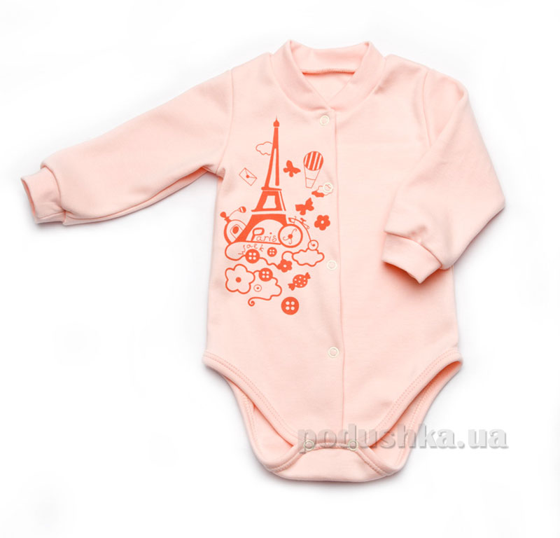 Боди для новорожденного утепленное Модный карапуз 302-00015 персиковый
