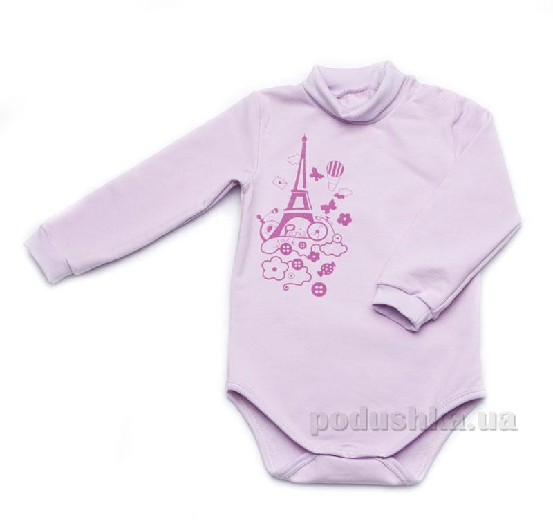 Боди для новорожденного Модный карапуз 302-00015 сиреневый