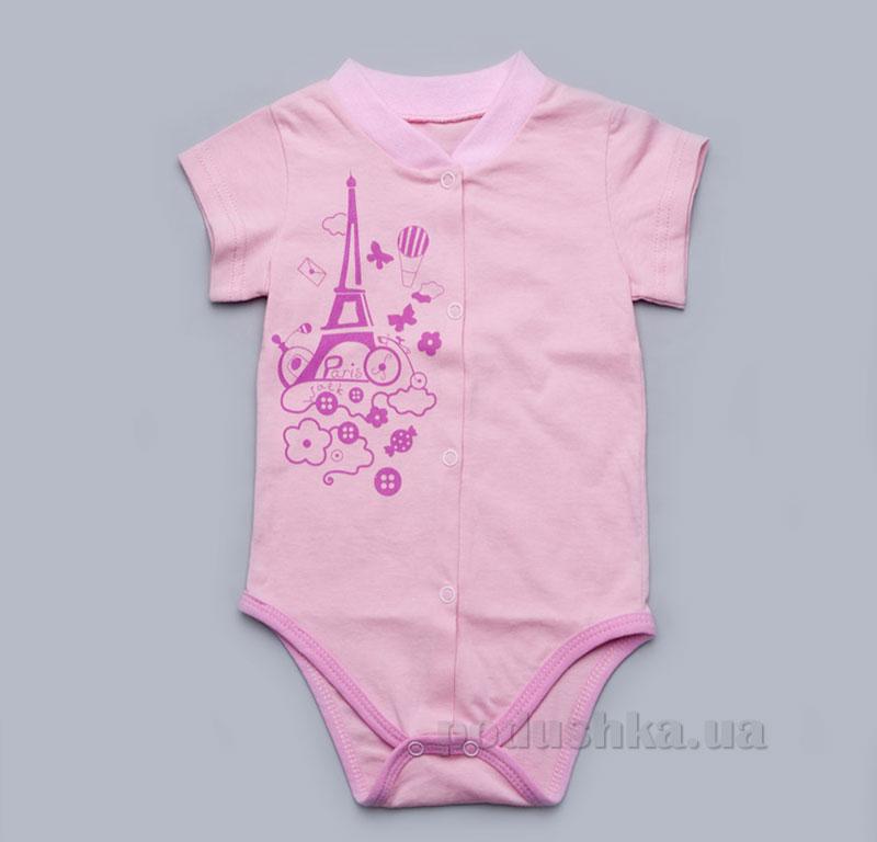 Боди для новорожденной девочки Модный карапуз 303-00015 розовое
