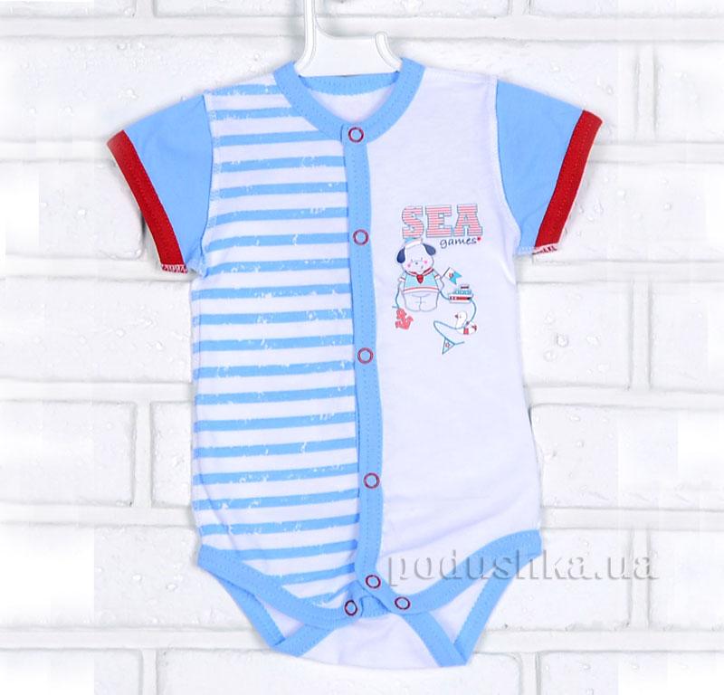 Боди полукомбинезон для малыша Татошка 14187 голубой в полоску