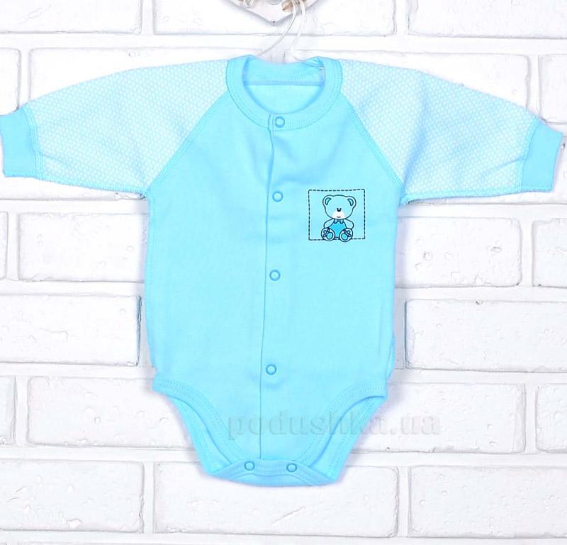 Боди Татошка 14951 с длинным рукавом голубой