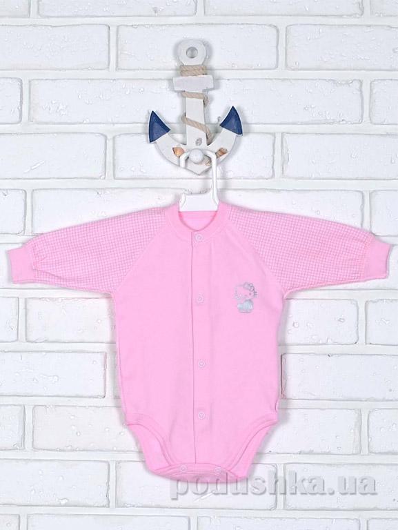 Боди Татошка 14951 с длинным рукавом розовый