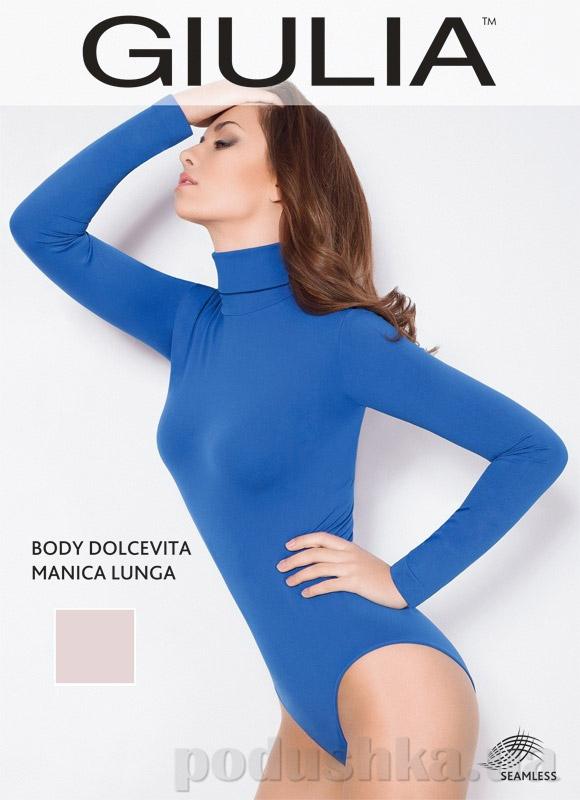 Боди телесное Dolcevita manica lunga Giulia nude